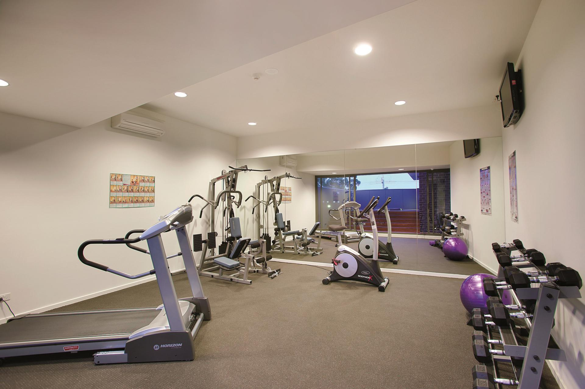Gym at Punthill Oakleigh Apartments