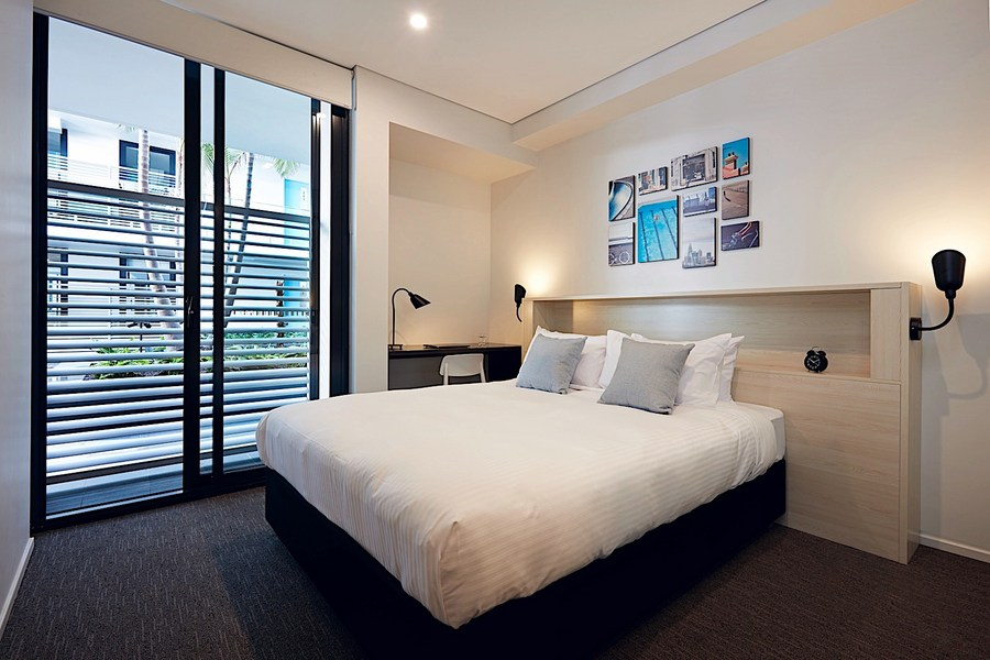 Bedroom at Veriu Camperdown Apartments