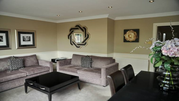 Spacious living area at Collingham Serviced Apartments