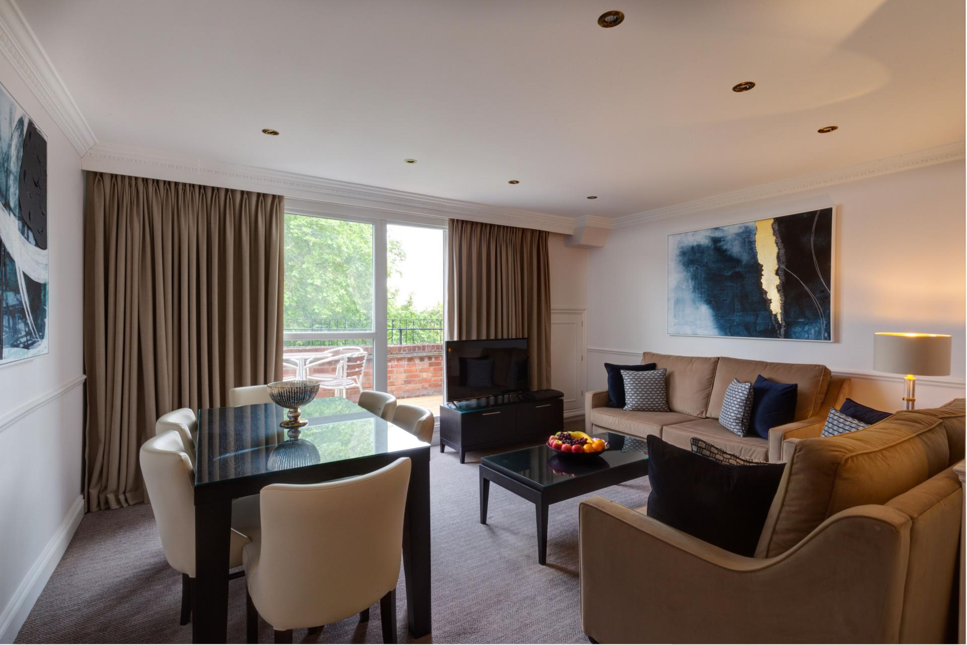 Light Living Room at Collingham Serviced Apartments, Kensington, London