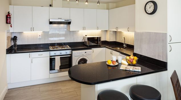 Kitchen at The George Serviced Apartment
