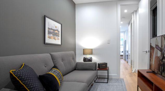 Living area at 250 Mulberry Apartment, Manhattan, New York