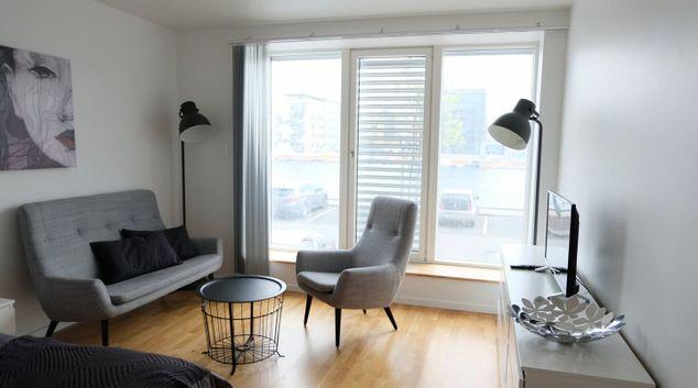 Living area at Forenom Denmark Apartment