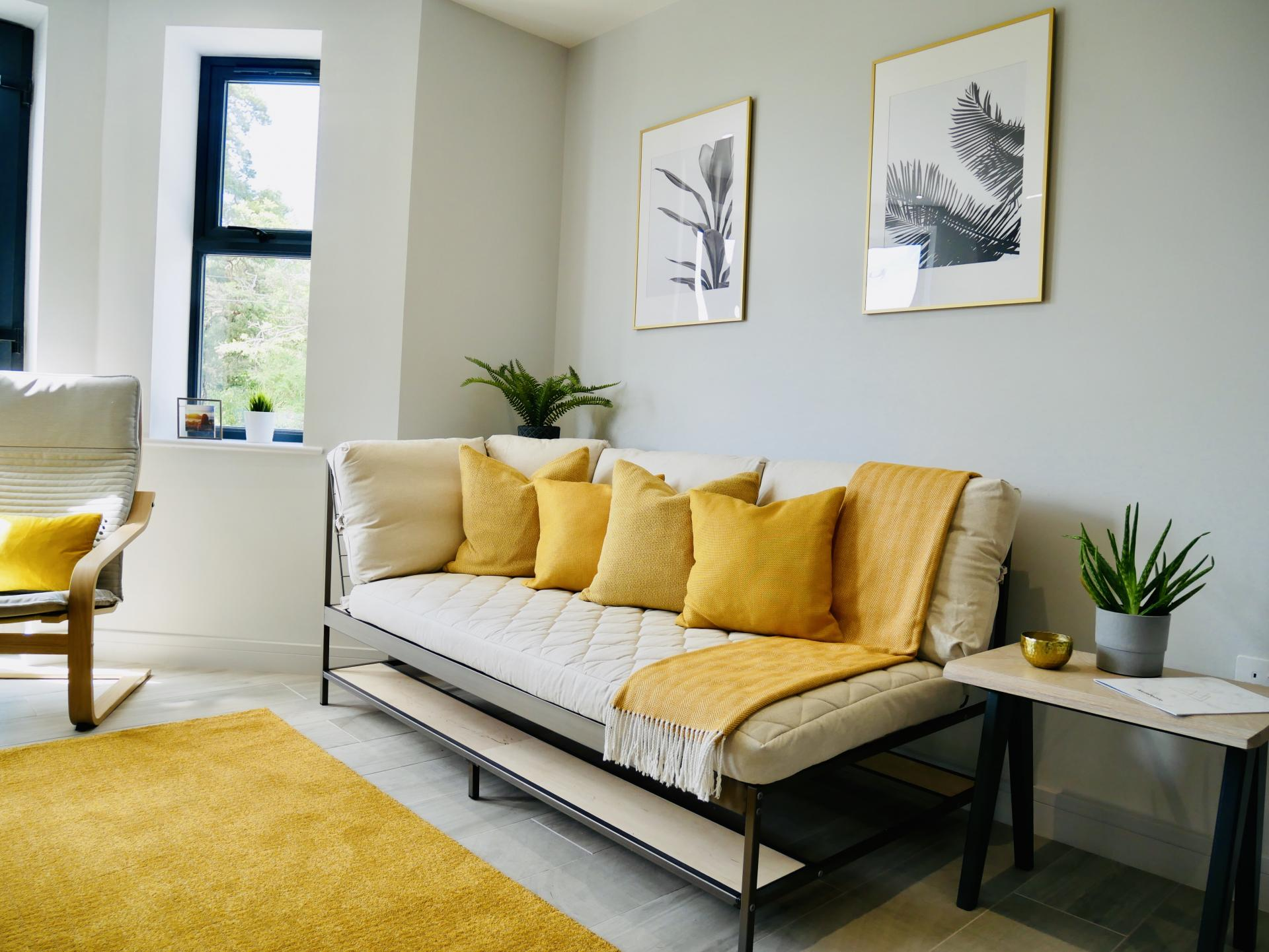 Sofa at AlumPointe Apartments