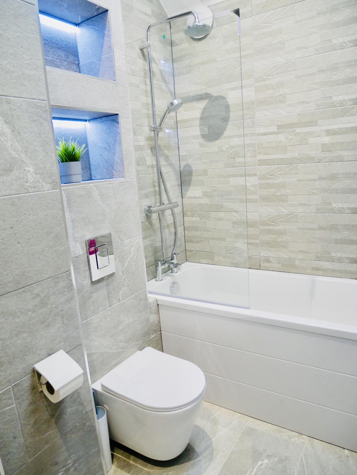 Bathroom at AlumPointe Apartments