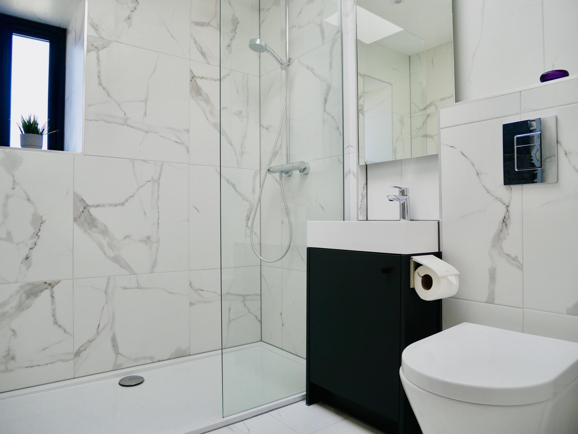 Toilet at AlumPointe Apartments