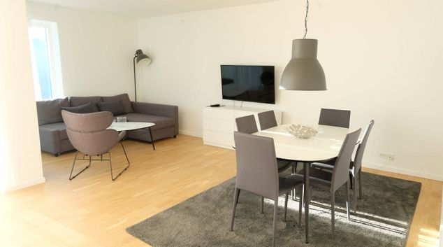 Living area at Ebbe Rodes Alle Apartments, Valby, Copenhagen
