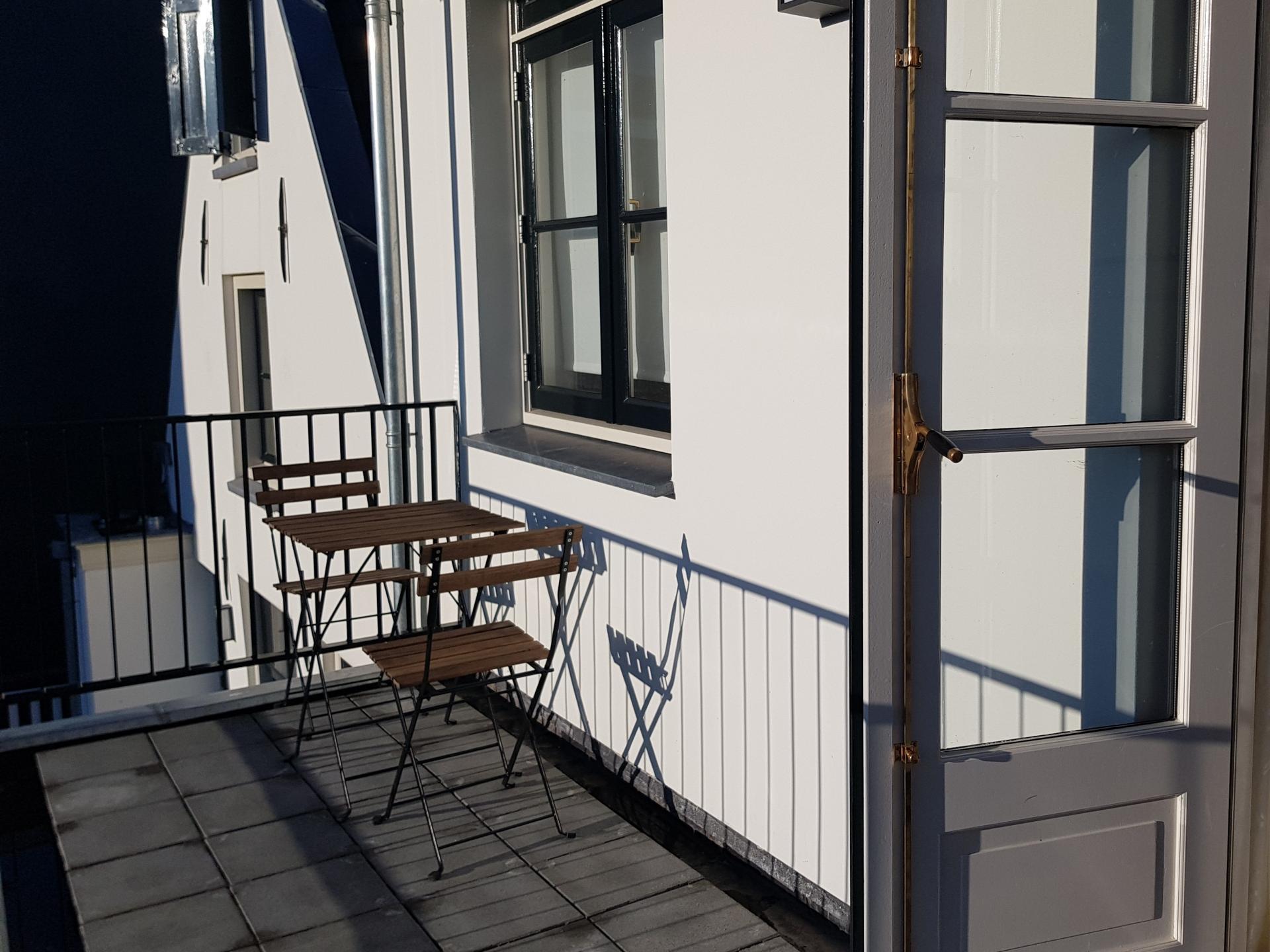 Balcony at 21 Haarlemmerplein Apartments, Amsterdam
