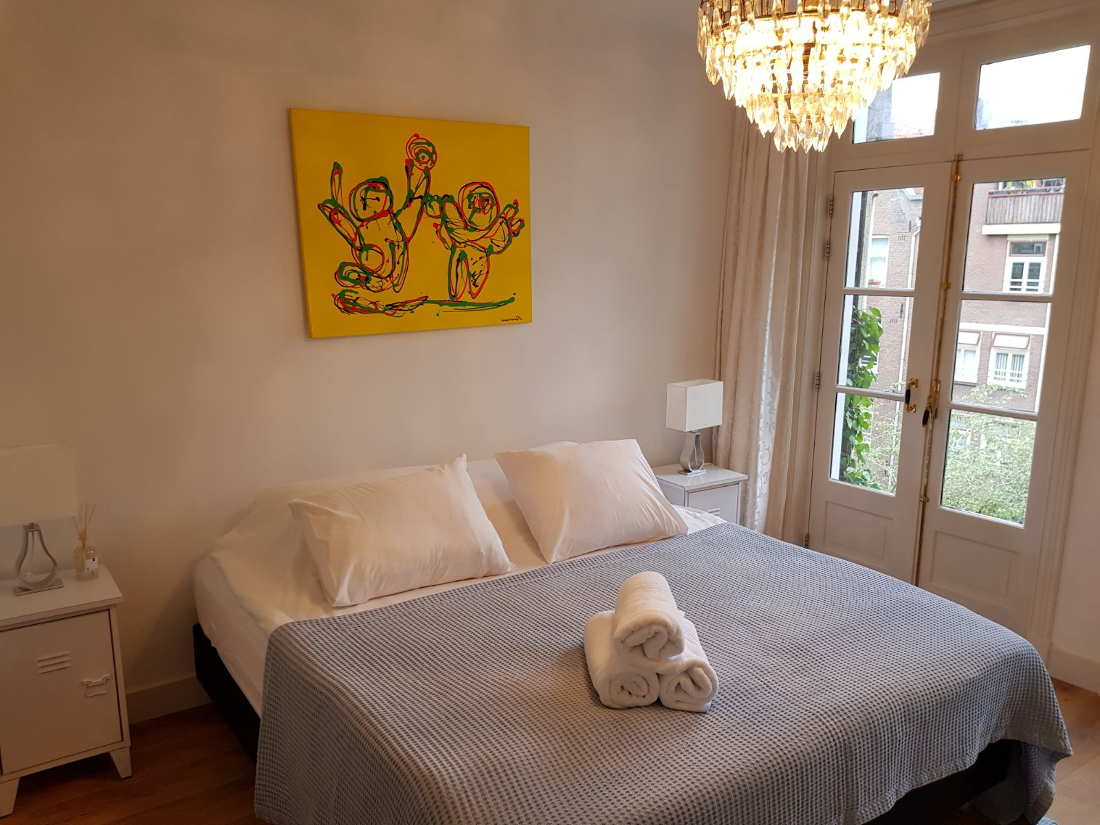 Bedroom at 21 Haarlemmerplein Apartments, Amsterdam