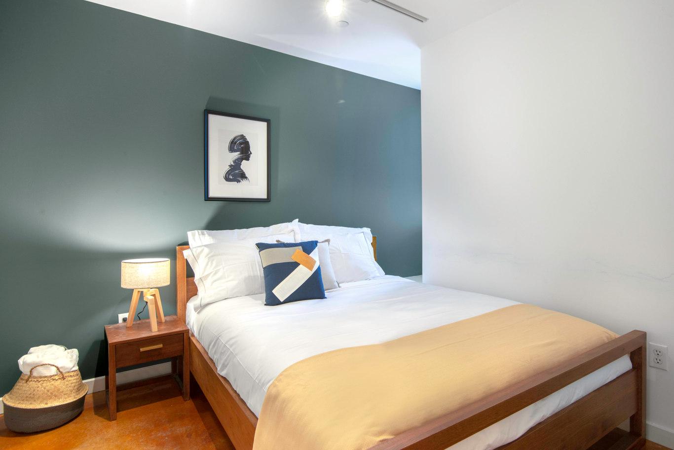 Bedroom at Glasdore Lofts Apartment, Hayes Valley, San Francisco