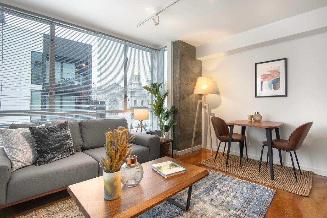 Dining Area at Glasdore Lofts Apartment