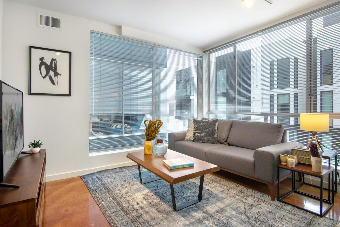 Living Area at Glasdore Lofts Apartment