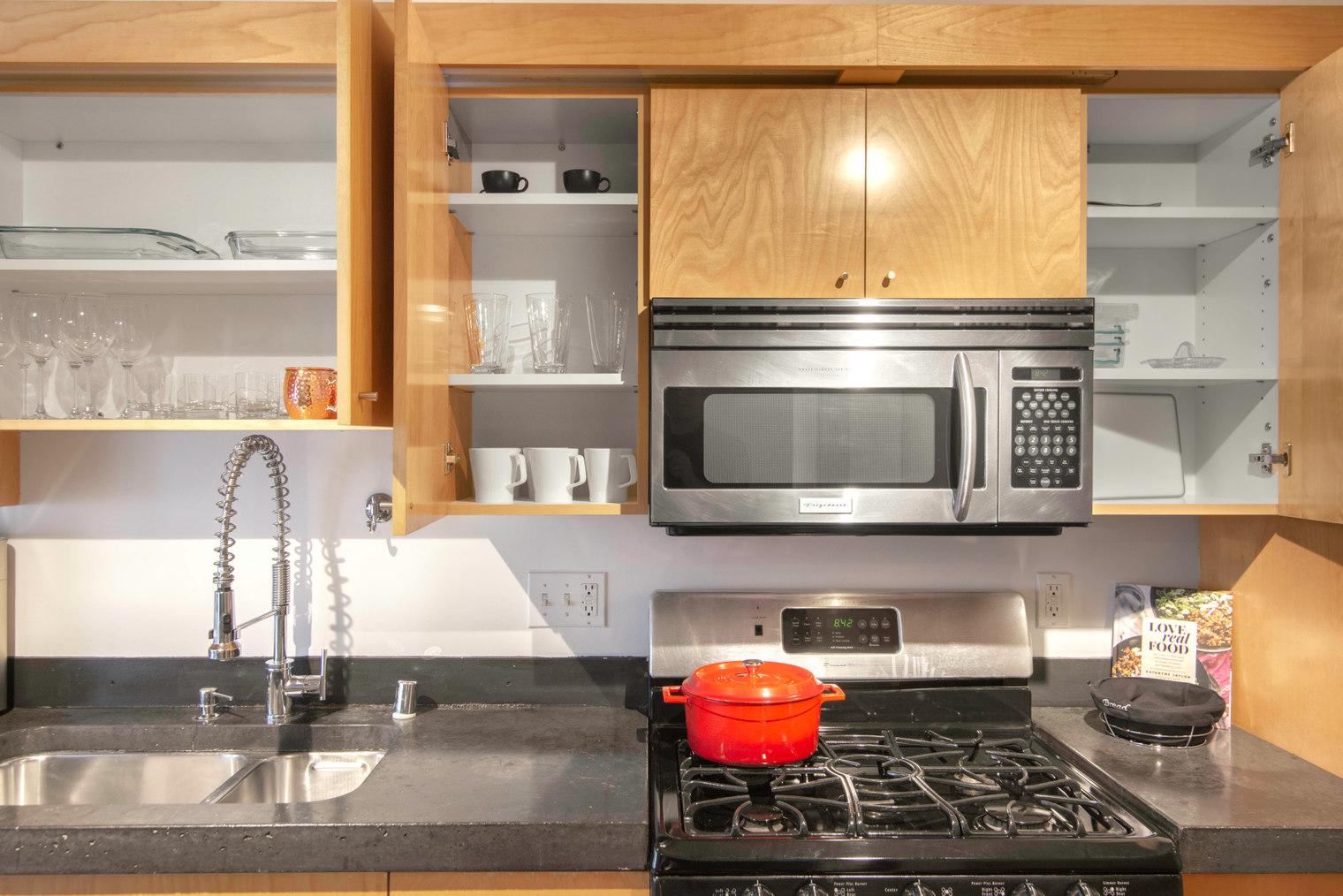 Kitchen Facilities at Glasdore Lofts Apartment