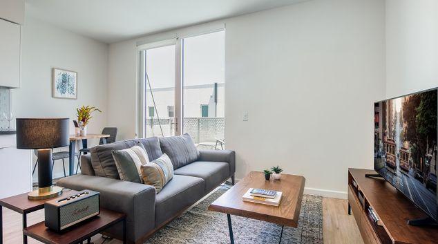 Lounge at 855 Brannan Apartment, Design District, San Francisco