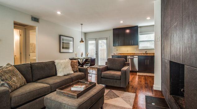 Living room at Birchbrook Condo