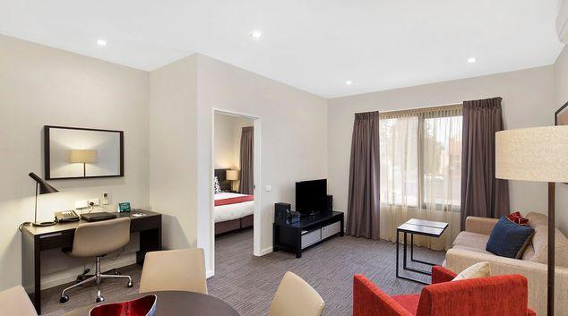 Living area at Quest Maitland Apartments