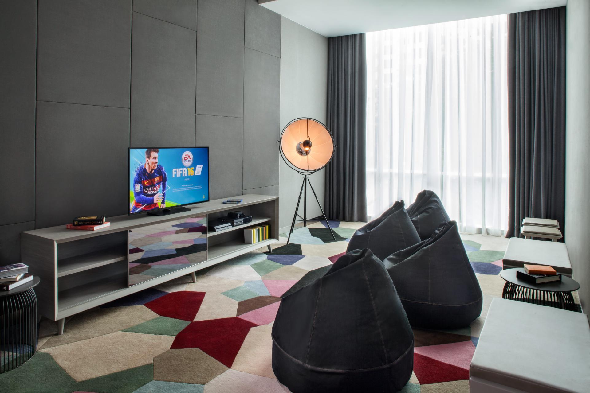 Games room at Fraser Place Setiabudi Jakarta