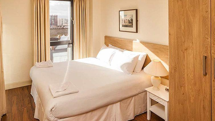 Double bedroom at South Dock Apartments