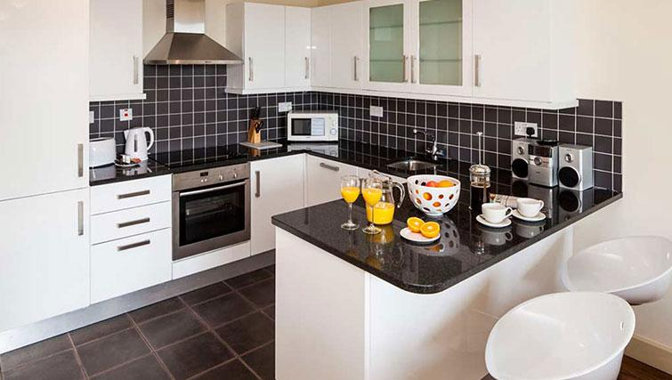 Kitchen in South Dock Apartments