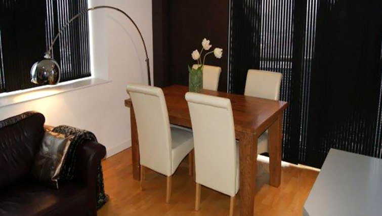 Dining area in Cranbrook House Serviced Apartments