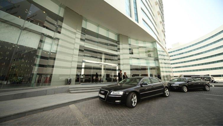 Elaborate entrance at Holiday Villa Residence City Centre Doha