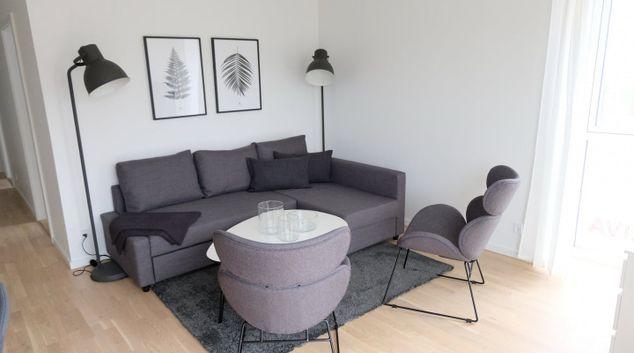 Lounge at Richard Mortensens Apartment, Ørestad, Copenhagen