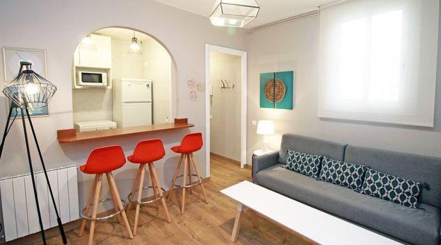 Living room at Travesera De Gracia Apartment