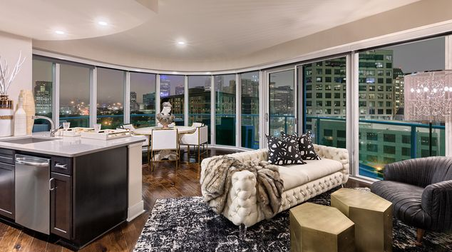 Lounge at One Uptown Apartment, Uptown, Dallas