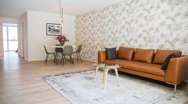 Living area at Gubelhof Suites