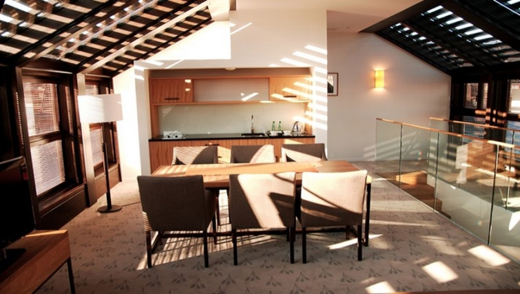Modern kitchen in The Granary La Suite