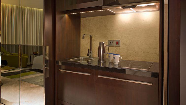 Kitchenette at Al Ain Rotana Apartments