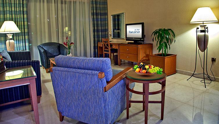 Living area at Al Ain Rotana Apartments