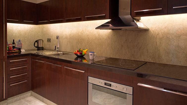 Kitchen at Al Ain Rotana Apartments