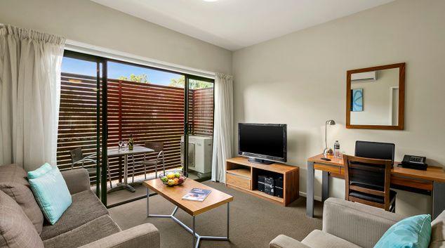 Living room at Quest Bendigo Central
