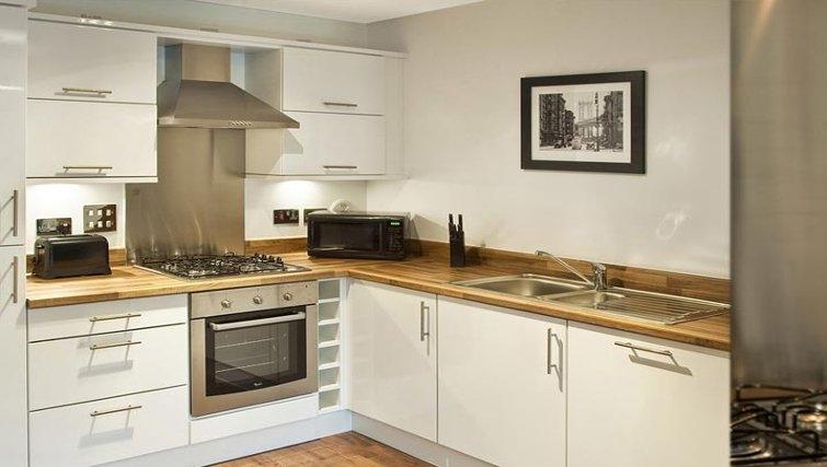 Outstanding kitchen in Oakhill Apartments Edinburgh