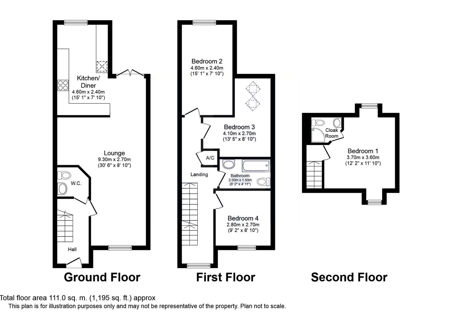Floor plans at London Road House