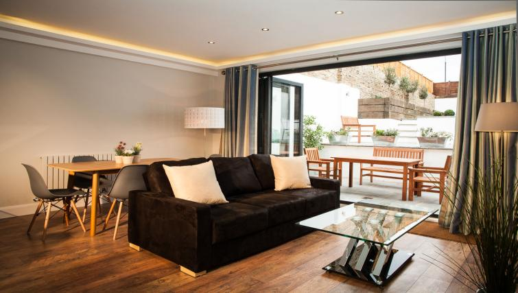 Living area at Hammersmith Town Apartments