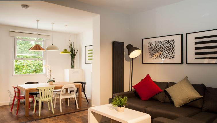 Living room area at Hammersmith Town Apartments