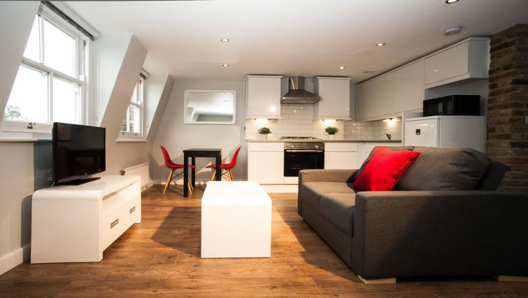 Living space at Hammersmith Town Apartments