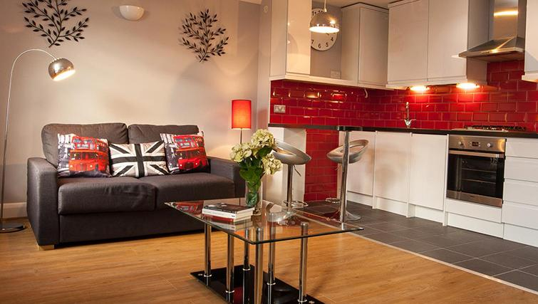 Spacious living area at Hammersmith Town Apartments