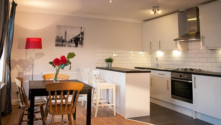 Pristine living area in Hammersmith Town Apartments