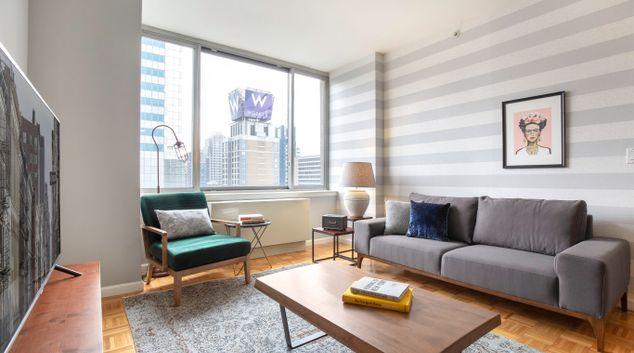 Living area at The Biltmore Corporate Housing, Manhattan, New York