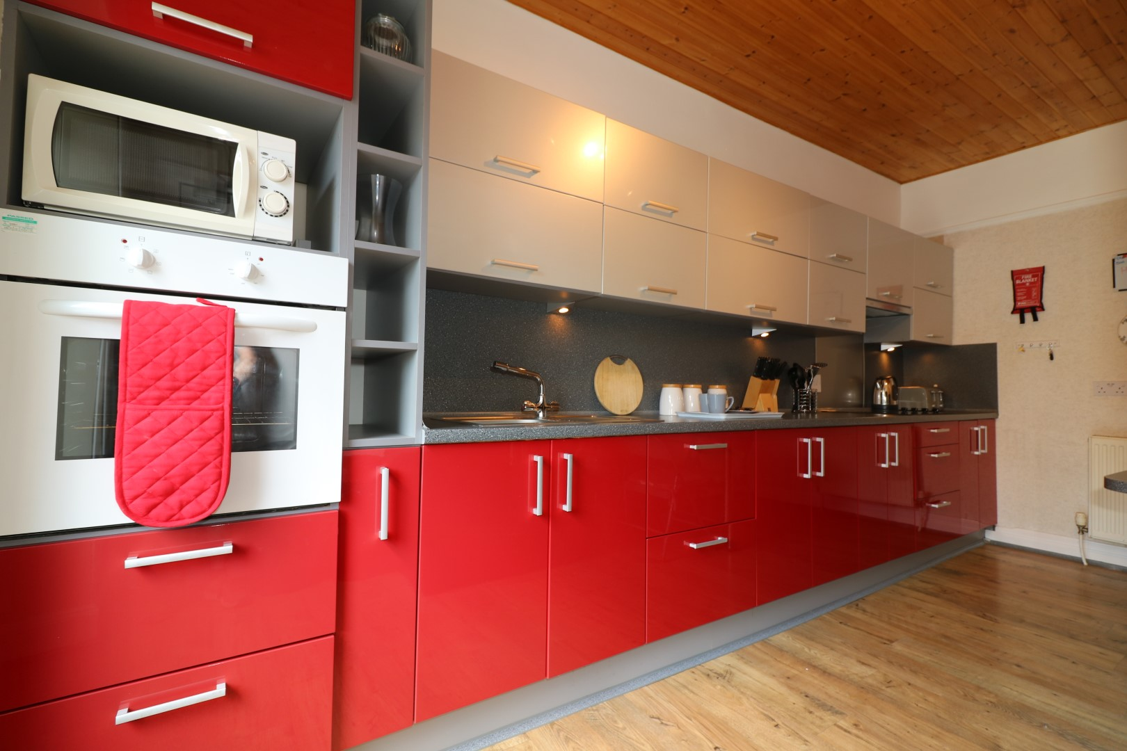 Fully equipped kitchen at Clark House, Centre, Airdrie