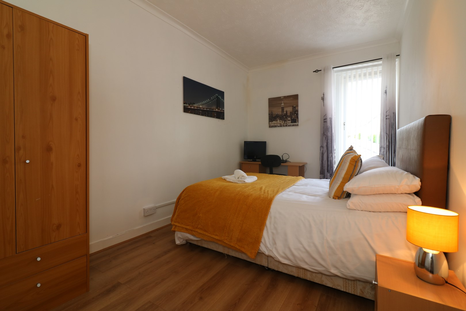 Spacious bedroom at Clark House, Centre, Airdrie