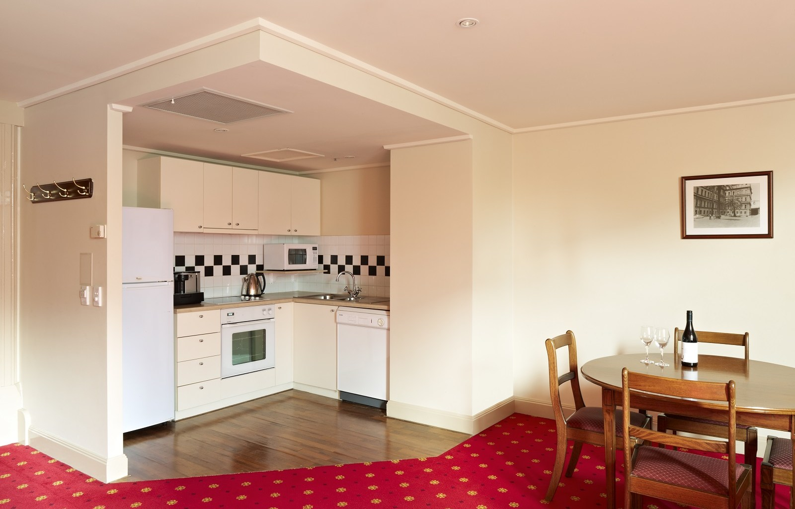Kitchen area at Quest Grand Hotel Apartments