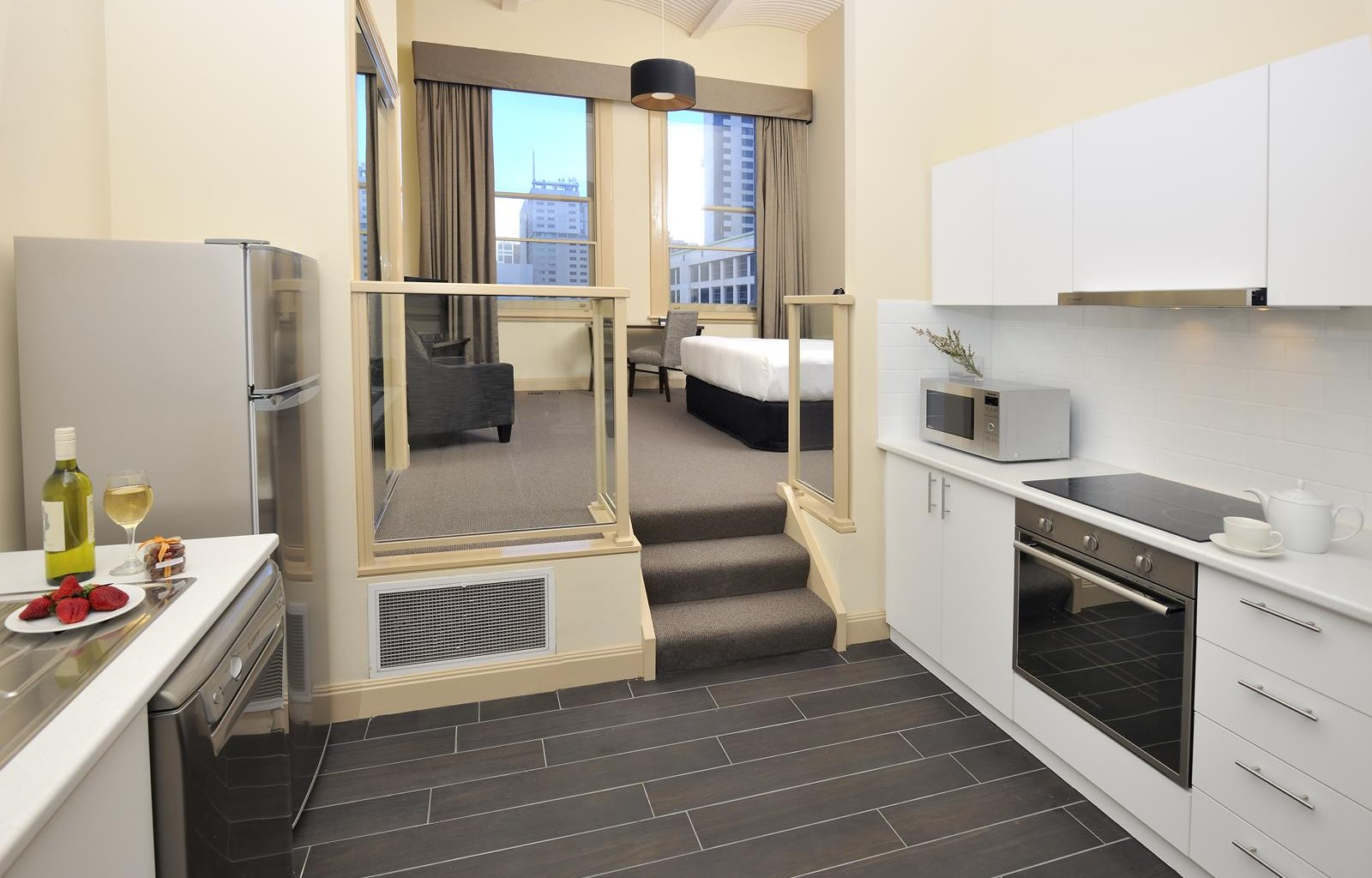 Oven at Quest Grand Hotel Apartments