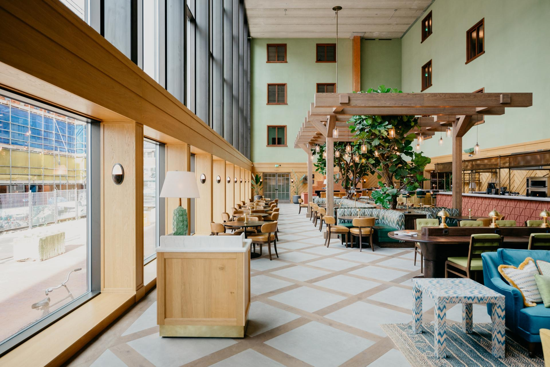 Atrium at Boat & Co Apartments, Houthavens, Amsterdam