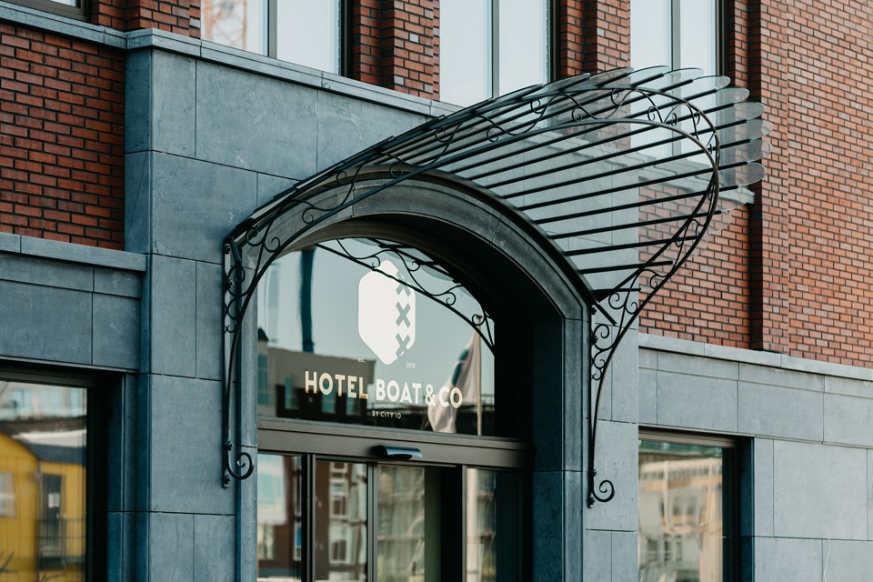 Entrance at Boat & Co Apartments, Houthavens, Amsterdam