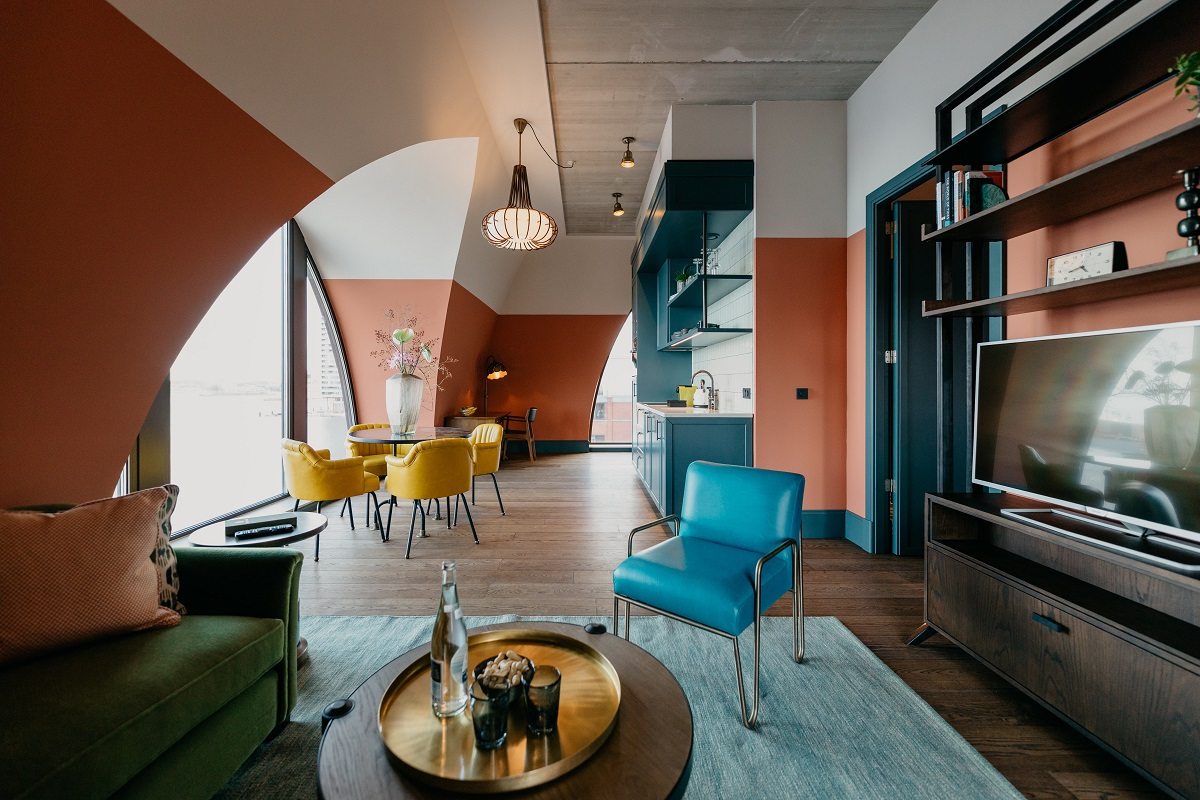 Architecture at Boat & Co Apartments, Houthavens, Amsterdam