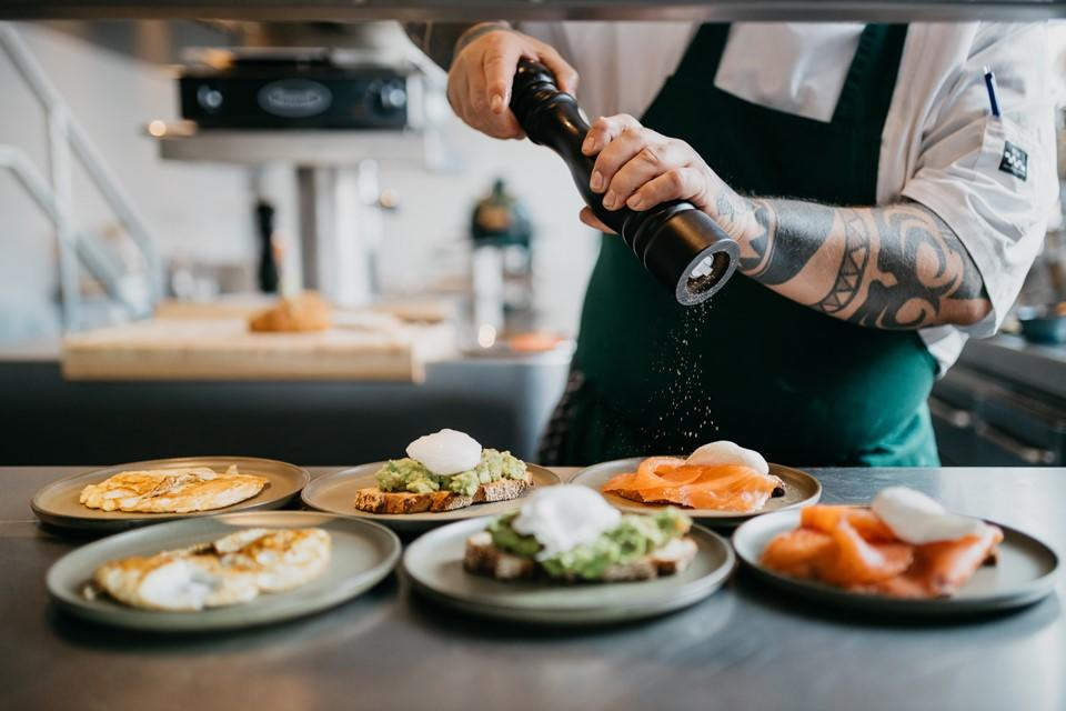 Breakfast at Boat & Co Apartments, Houthavens, Amsterdam